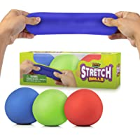 YoYa Toys Pull, Stretch & Squeeze Stress Balls by 3 Pack - Elastic Construction Sensory Balls - Ideal for Stress & Anxiety Relief, Special Needs, Autism, Disorders & More