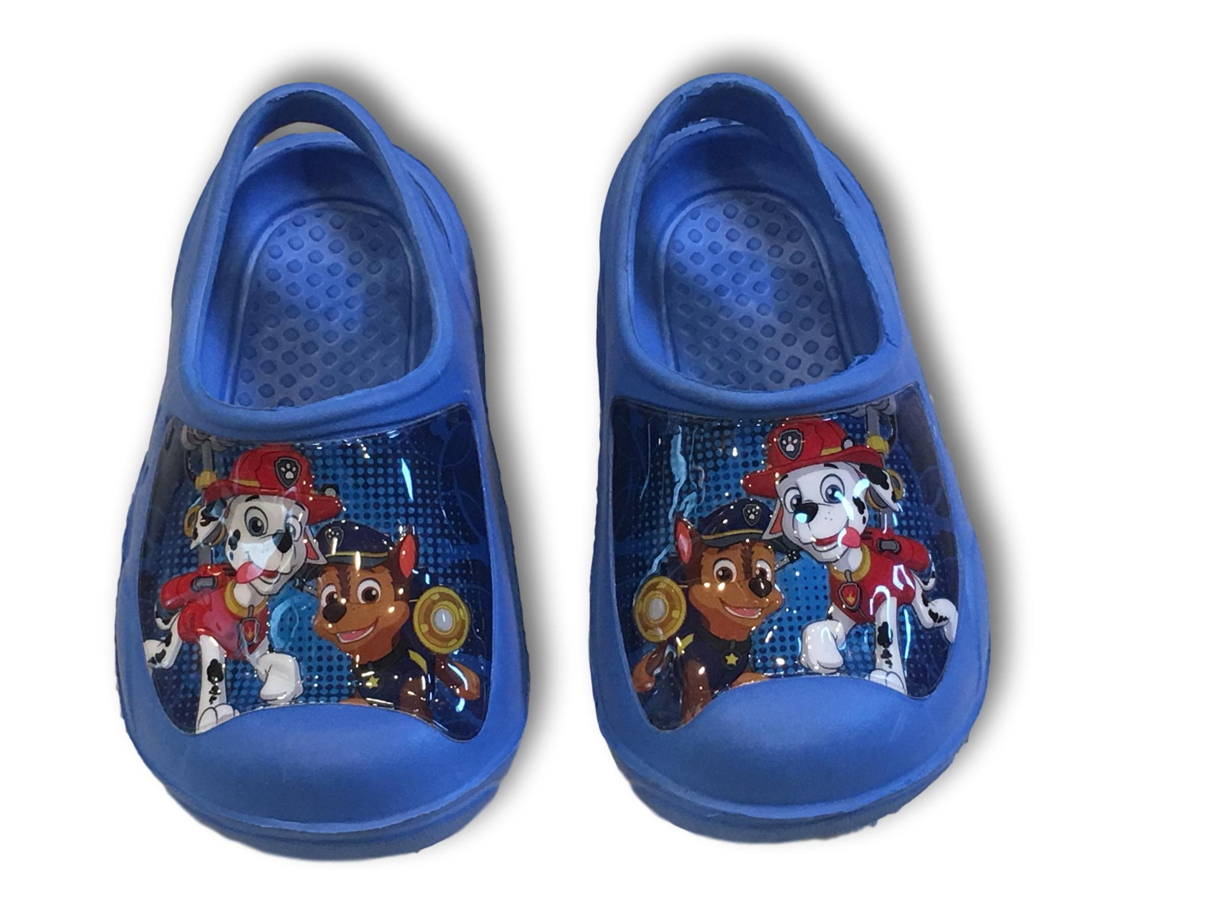 PAW Patrol Marshall & Chase Nickelodeon Molded Clogs Sandals Shoes (Medium (7/8))