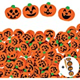 720 Pcs Halloween Pumpkin Erasers Bulk Jack-O'-Lantern Mini Eraser Assortment, Halloween Party Favors for Kids…