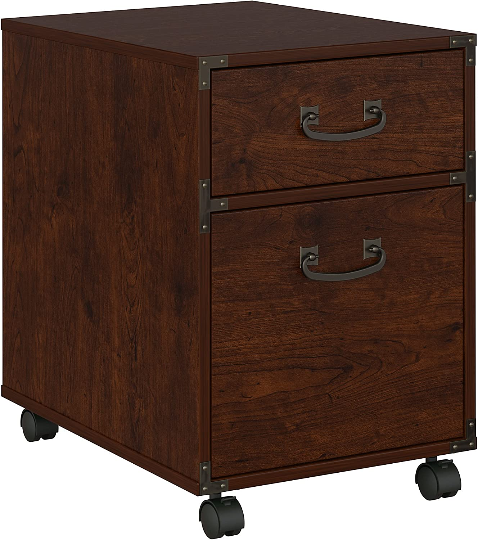 Bush Furniture kathy ireland Home Ironworks 2 Drawer Mobile File Cabinet, Coastal Cherry