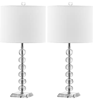 Safavieh Lighting Collection Victoria Crystal Ball 24 Inch Table Lamp (Set  Of 2)