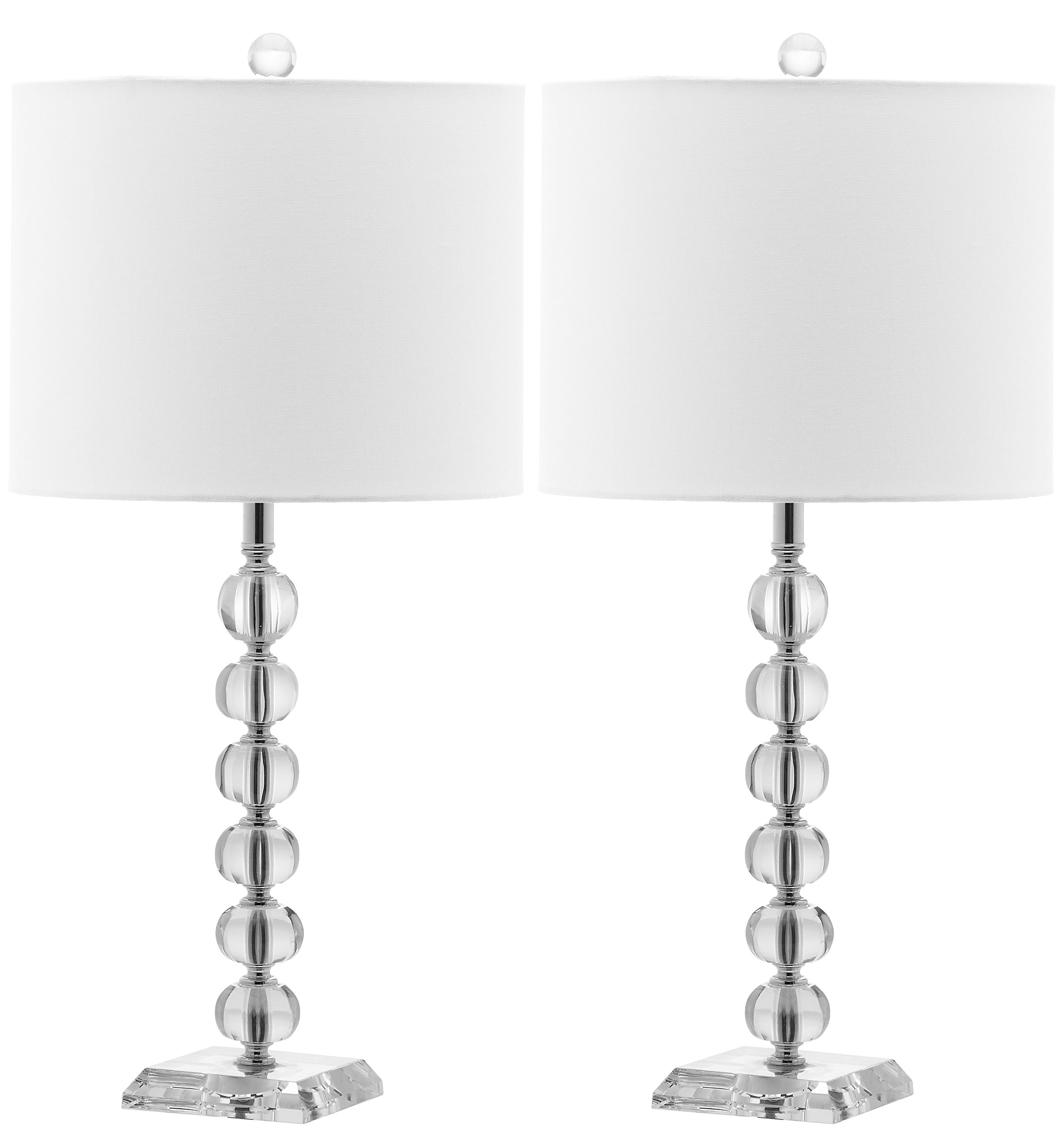 Safavieh Lighting Collection Victoria Crystal Ball 24-inch Table Lamp (Set of 2) by Safavieh