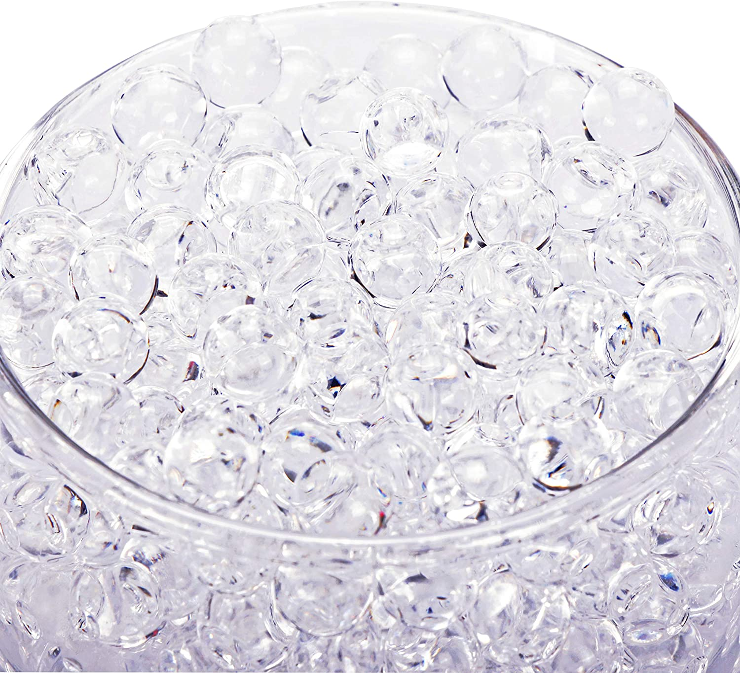 Bymore 60000 Clear Water Gel Jelly Beads Vase Fillers for Floating Pearls, Floating Candle Making, Wedding Centerpiece, Floral Arrangement