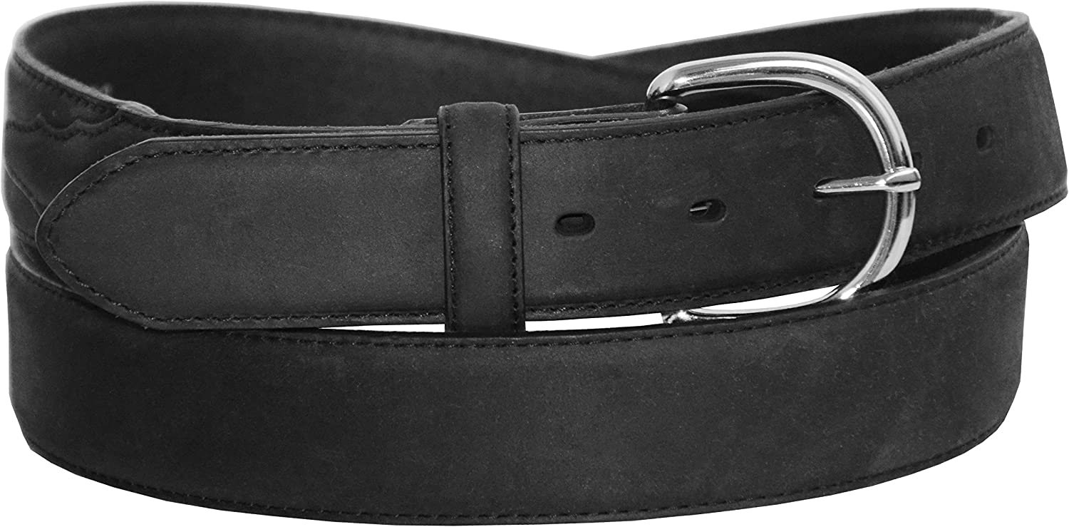 BLACK WESTERN STYLE BELT MEN/'S BIG AND TALL GENUINE LEATHER CASUAL WORK BELT