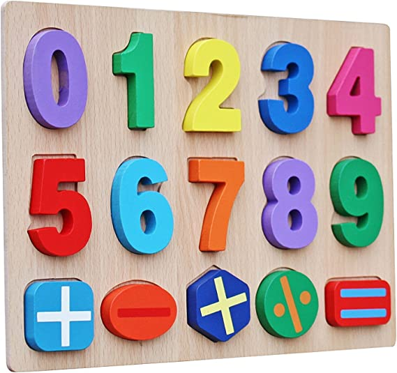 100pcs Wooden Numbers 0 to 9 Number for Kids Number Learning Toy Gift