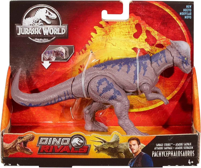 Jurassic World Dinorivals Pachycephalosaurus Dinosonidos juguete de dinosaurio Mattel GFG64