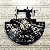 Costura Tema Disco de vinilo pared reloj de regalo para Taylor