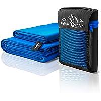 BeMaxx Microfaser Handtücher 2er Set Outdoor + Transportbeutel – Mikrofaserhandtuch groß & Klein: Badetuch + Handtuch – Mikrofaser Reisehandtuch   Mikrofaserhandtücher   Sporthandtuch Reise, Sport