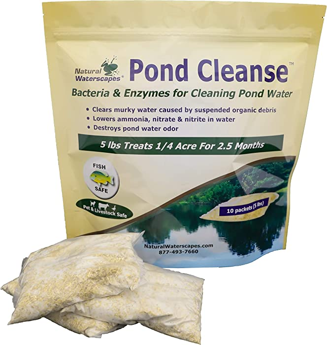 Pond Cleanse 5 lb | Natural Cleaner & Water Clarifier Packets