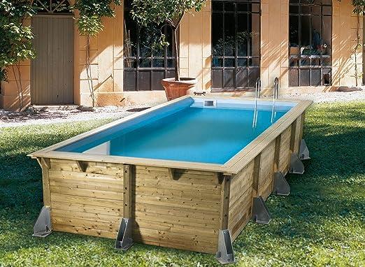 Kit piscina madera nortland-ubbink Azura 3, 50 x 5.05 X 1.26 m ...