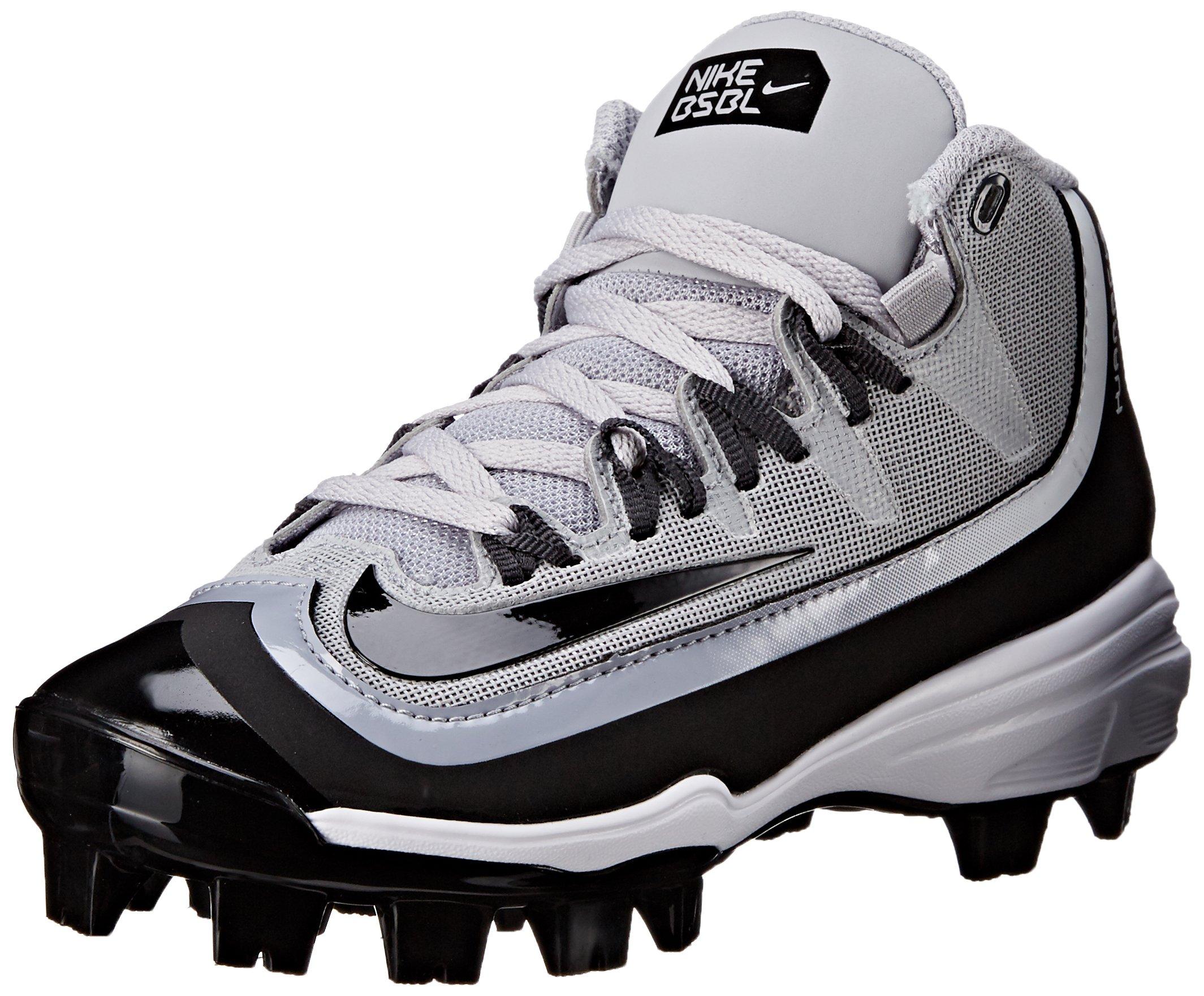 NIKE Boy's Huarache 2KFilth Pro (GS) Baseball Cleat Grey/Anthracite/White/Black Size 1.5 M US