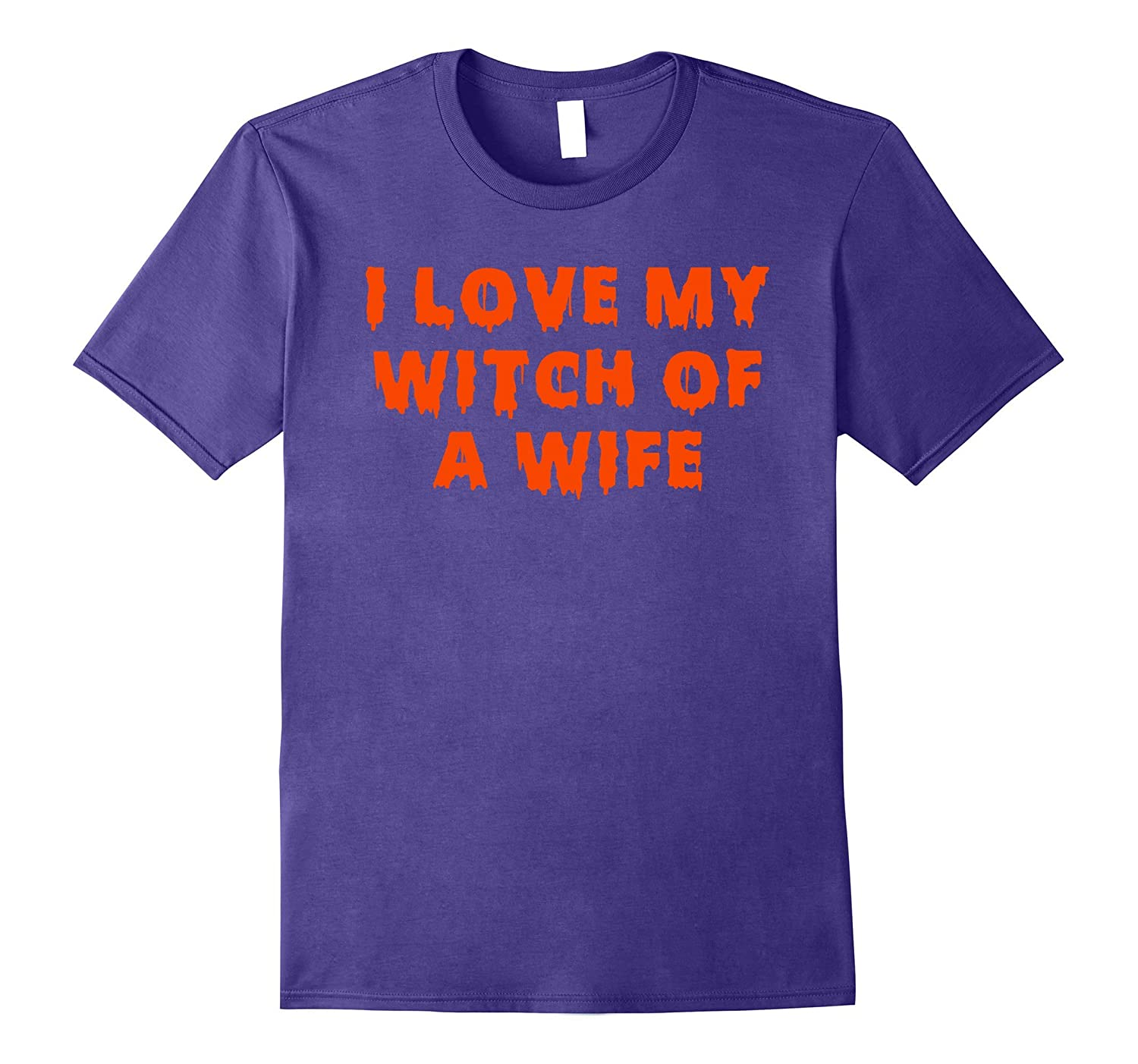 Halloween Couples Costumes | I Love My Witch of a Wife-T-Shirt