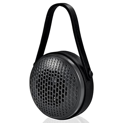 Blackweb Shower Water-Resistant Portable Rechargeable Bluetooth Wireless  Speaker with Built-In Mic, Black (Non-Retail Packaging)