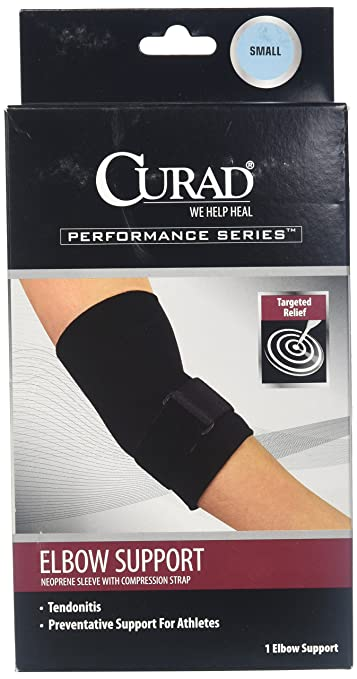 0ece868f57 Image Unavailable. Image not available for. Color: Medline ORT17300SDH Curad  Elbow Sleeve With Compression Straps ...