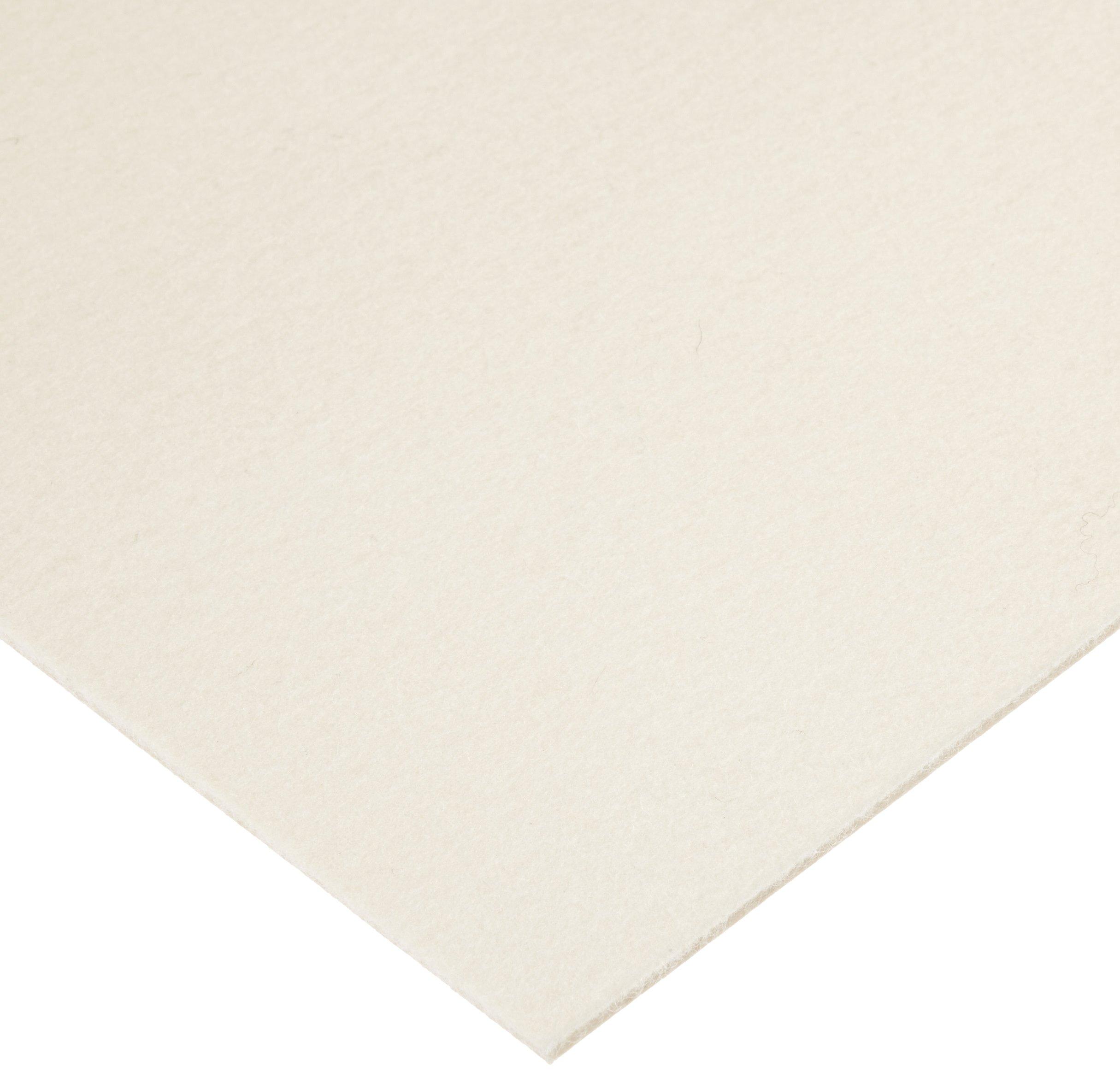 Grade S2-32 Pressed Wool Felt Sheet, White