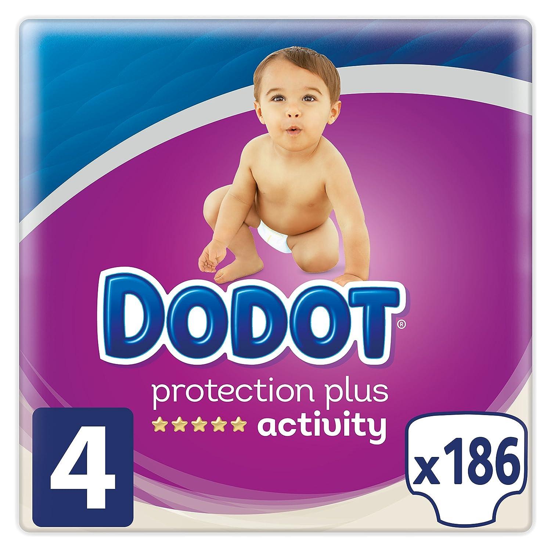 Dodot Protection Plus Activity - Pañales Talla 4 (9-14 kg) - 186 Pañales Procter & Gamble 81581305