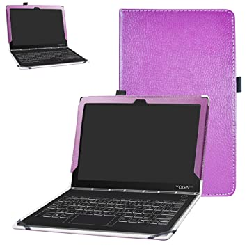 Lenovo Yoga Book C930 Case,Bige PU Leather Folio 2-Folding Stand Cover for 10.1