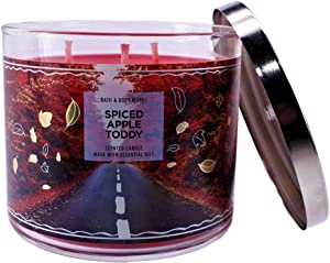 White Barn Bath & Body Works Spiced Apple Toddy 3 Wick Jar Candle 14.5 Oz