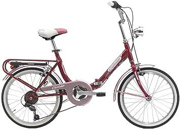 """Cicli Cinzia - Bicicleta plegable Bologna Hi-Tension 20"""", Rosso brillante"""