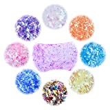 Slime Supplies for DIY Slime - IEFWELL Fluffy Slime Supplies Slime Supply Kit for Kids,DIY Slime Supplies Including Foam Beads, Fishbowl Beads, Glitter Jars, Totaling 72 Packs Slime Making Supplies