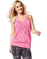 Zumba Womens Get Hyped Up Bubble Tank