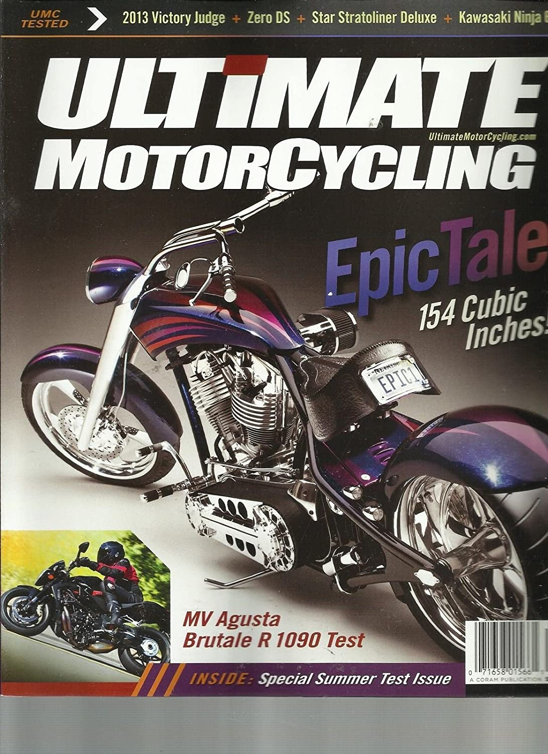 Amazon.com : ULTIMATE MOTORCYCLING, JULY/AUGUST, 2012 ...