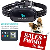 Barklo Anti-Bark Collar Provides Safe, Effective Vibrating Shock Correction To Eliminate Excessive Barking - Waterproof Design, Rechargeable Battery - 7 Levels Of Sensitivity For Small And Large Dogs ( 9+ lbs )