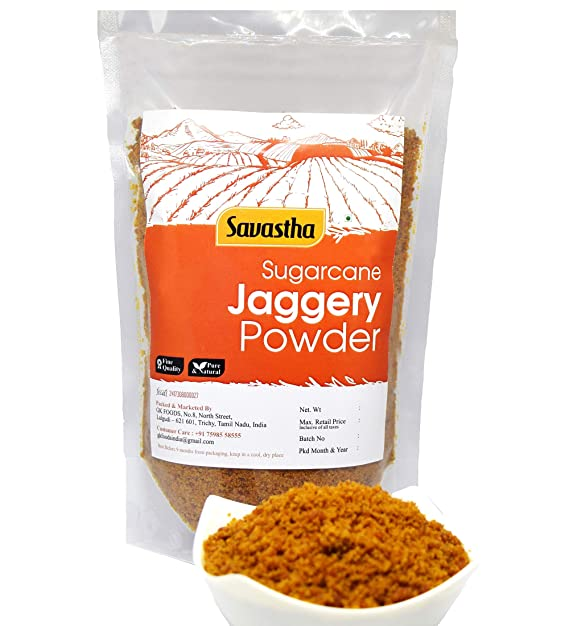 Savastha Natural Organic Sugarcane Jaggery Powder ( Nattu