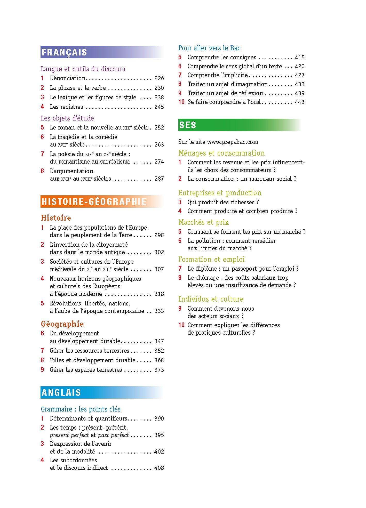 Prépabac Tout-en-un 2de: Toutes les matières - Seconde: Amazon.es: Didier Hourquin, Jean-Dominique Picchiottino, Élisabeth Brisson, Marie Péan, ...