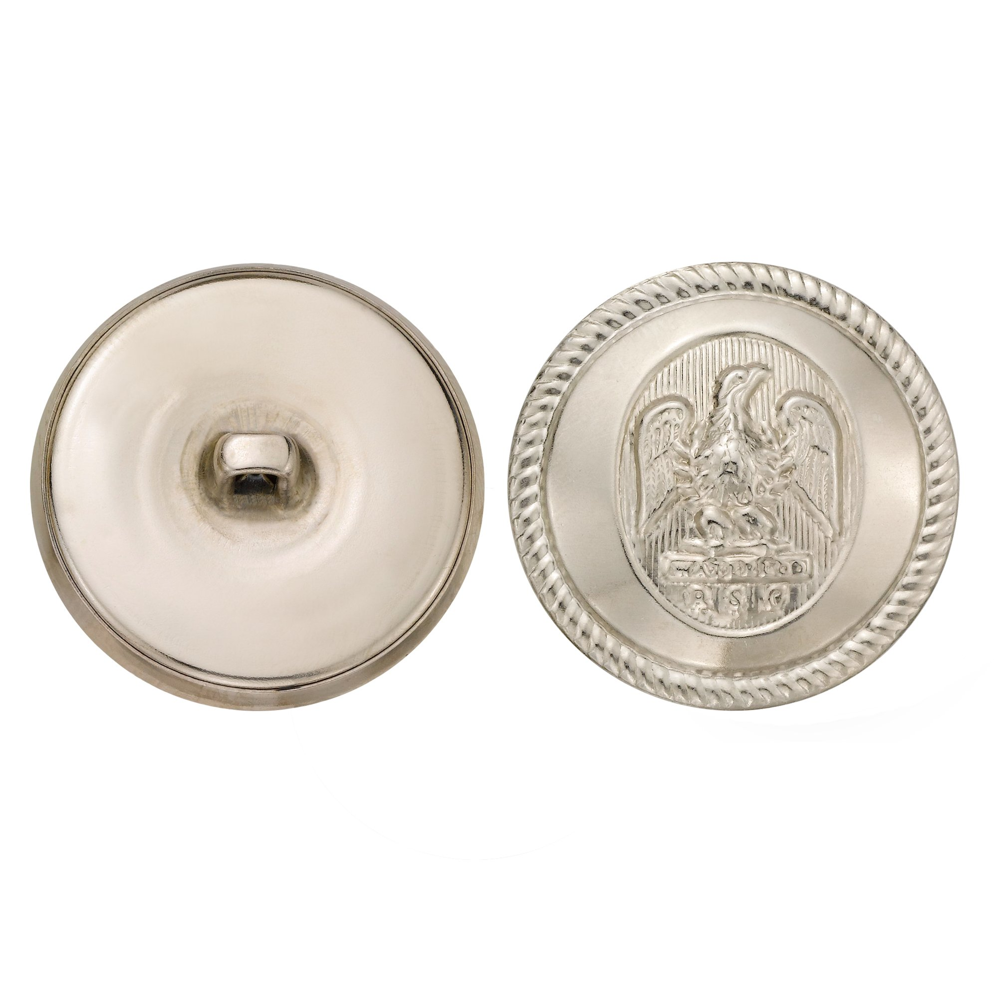 C&C Metal Products 5064 Rope Rim Usa Eagle Metal Button, Size 45 Ligne, Nickel, 36-Pack