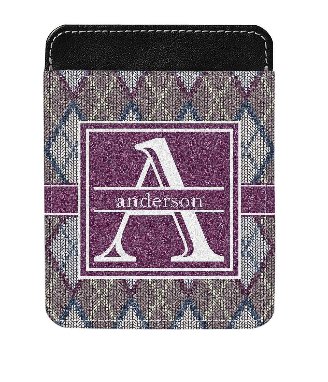 Knit Argyle Genuine Leather Money Clip Personalized