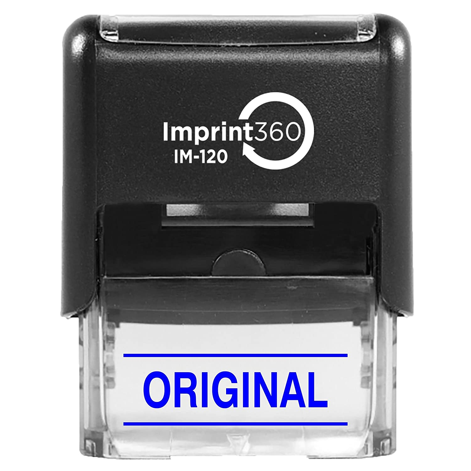Heavy Duty Commerical Self-Inking Rubber Stamp 9//16 x 1-1//2 Impression Original w//Upper and Lower Bars Supply360 AS-IMP1129K Black Ink
