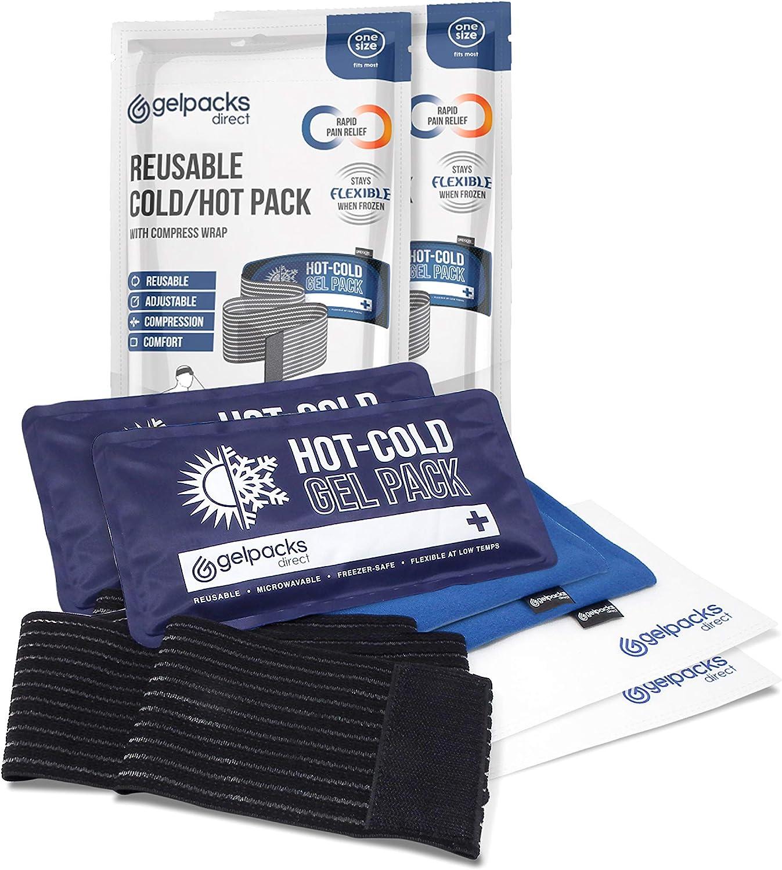 GelpacksDirect Paquetes de hielo de gel de frío y calor ...