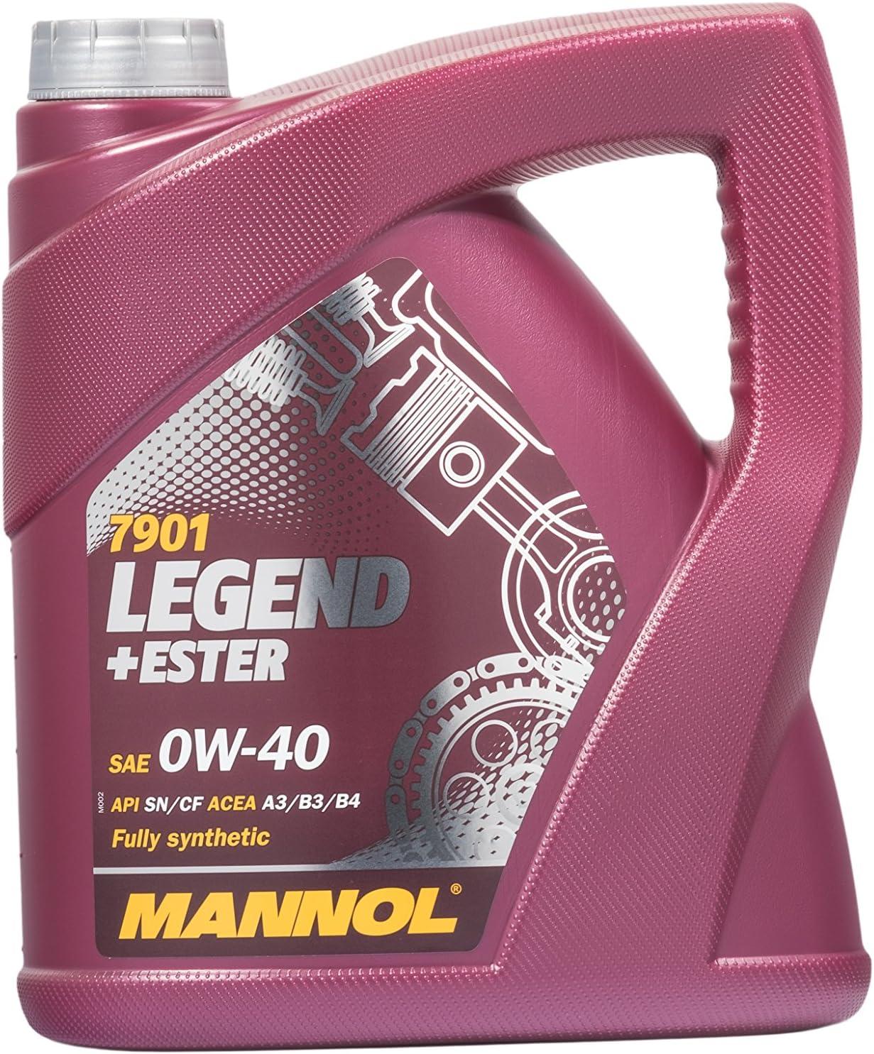 Mannol Legend Ester 0w 40 Api Sn Cf Motorenöl 4 Liter Auto