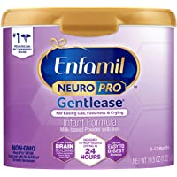 Enfamil NeuroPro Gentlease Baby Formula Milk Powder 19.5 oz. Reusable Tub, For Easing Gas & Crying, Vitamins & Minerals…