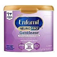 Enfamil NeuroPro Gentlease Baby Formula Gentle Milk Powder Reusable Tub, 19.5oz....