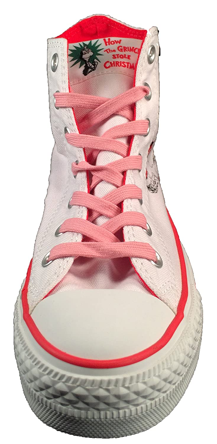 886f6faa4ce0 Converse Dr Seuss How The Grinch Stole Christmas Sneakers Cindy Lou (7.5)   Amazon.in  Shoes   Handbags