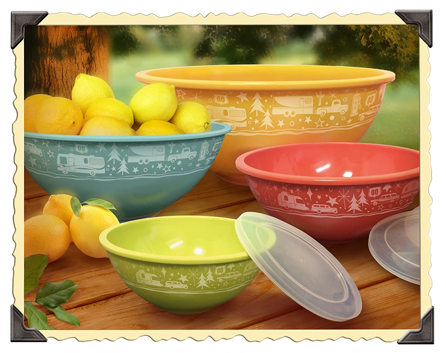 Nesting Camping Bowl Set With Lids is great gear for this no cook Fresh Summer Fruit Tossed In Honey Mint Syrup Camp Recipe