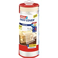 Tesa 59179-00003-02 Dérouleur + Easy Cover Premium L, (bâche + ruban de masquage) 33m x 1400mm Transparent