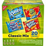 Nabisco Classic Mix Variety Pack, OREO Mini, CHIPS AHOY! Mini, Nutter Butter Bites, RITZ Bits Cheese, 20 - 1 oz Snack…