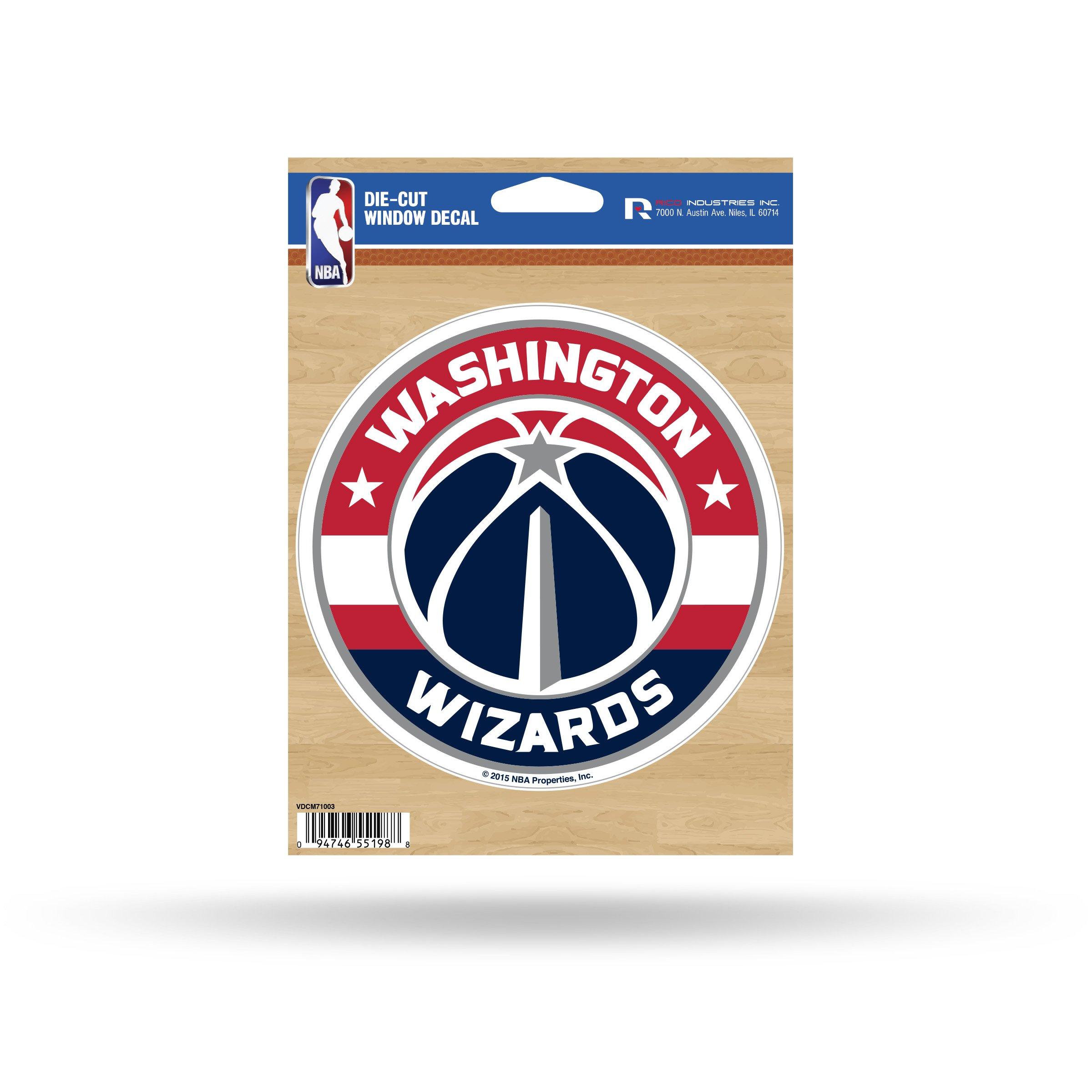 Rico NBA Washington Wizards Die Cut Vinyl Decal