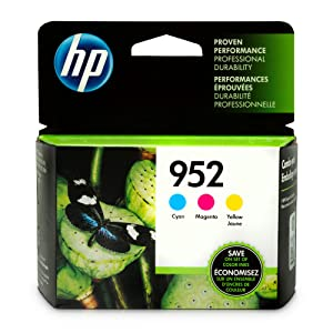 HP 952 Cyan, Magenta & Yellow Ink Cartridges, 3 Cartridges (L0S49AN, L0S52AN, L0S55AN)