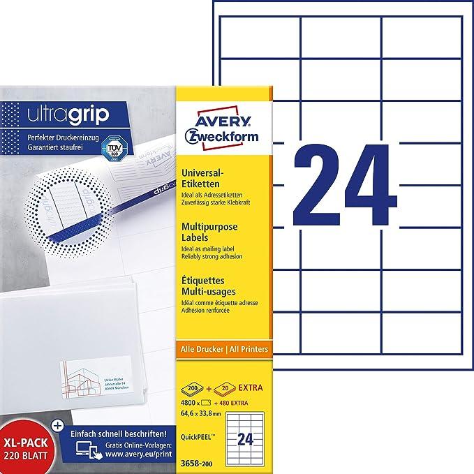 Avery Zweckform L7651 25 Adress Etiketten 13