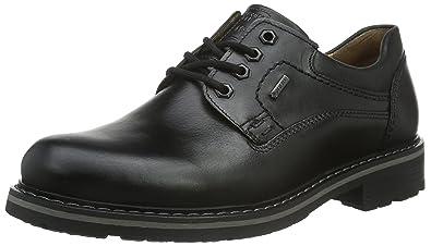 Fretz Men Boris - Zapatos con Cordones de Cuero Hombre, Color Negro, Talla 45