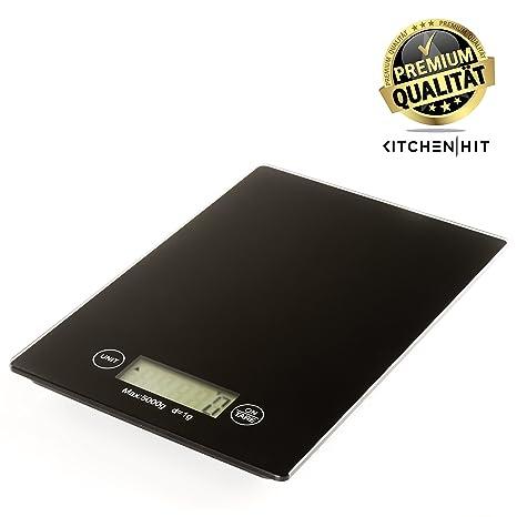 Báscula digital de cocina de KitchenAid Hitachi: gramos de precisa balanza de precisión con función