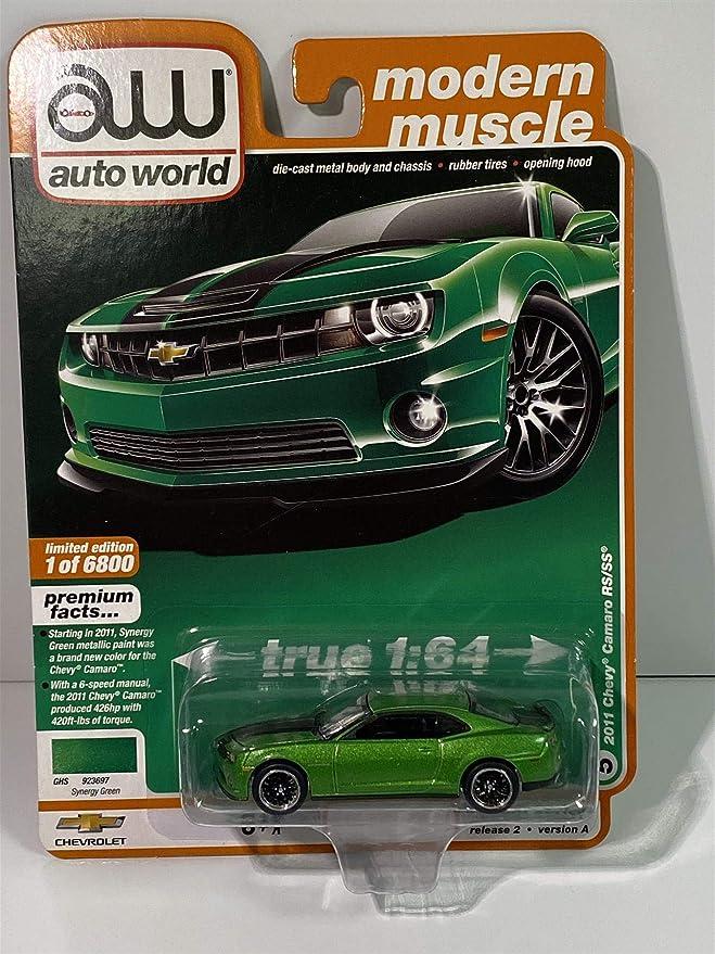 1:64 Auto World 2020 Premium 2011 Chevy Camaro RS//SS Green