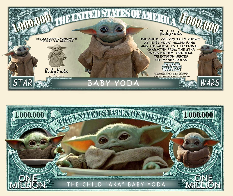 The Mandalorian Baby Yoda Commemorative Novelty Million Bill With Semi-Rigid Protector