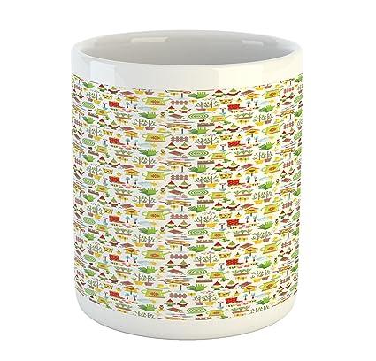 Amazon Lunarable Gardening Mug Seasonal Symbols In The