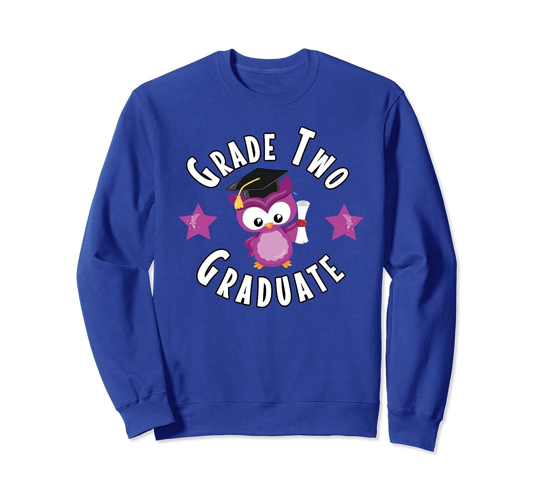 Graduation School Shirt Grade Two Graduate Owl Sweatshirt-ln