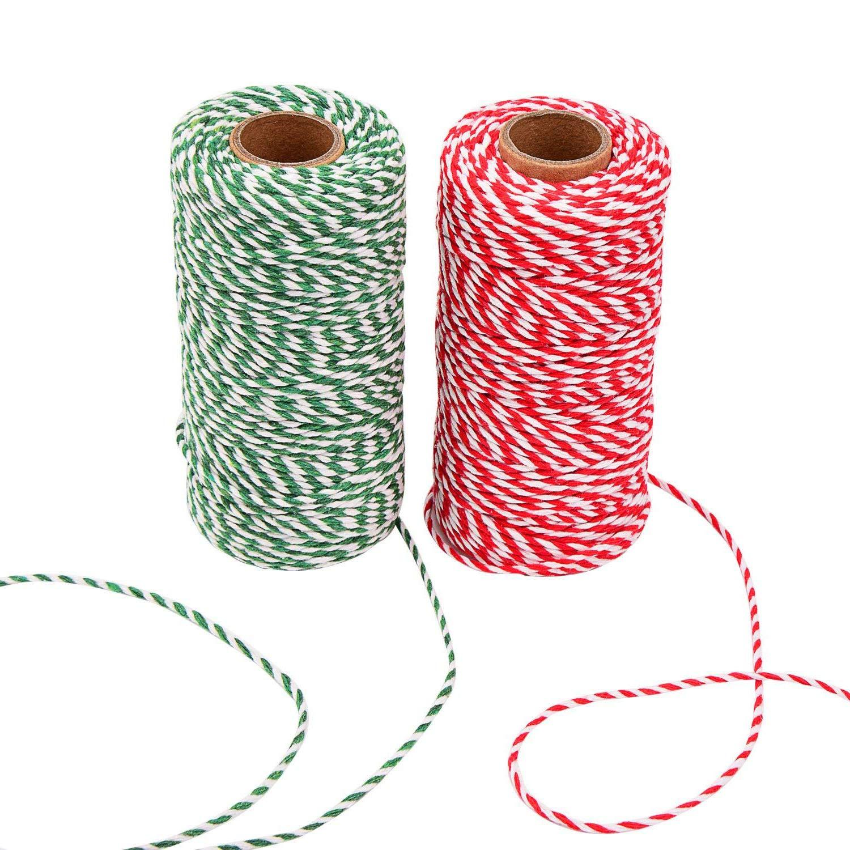 Xelparucoutdoor spago cotone stringa corda per regali natalizi, creazioni artistiche, per un totale di 656piedi (pezzi, multicolore)